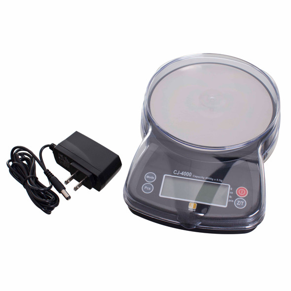 Jennings CJ4000 with charger and measuring bowl cover