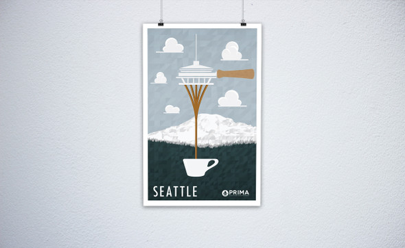 Seattle Coffee City Poster