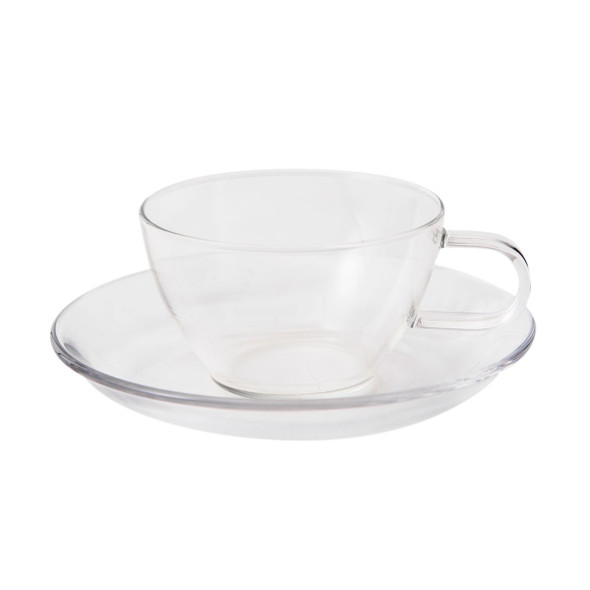 Hario Glass Teacup and Saucer