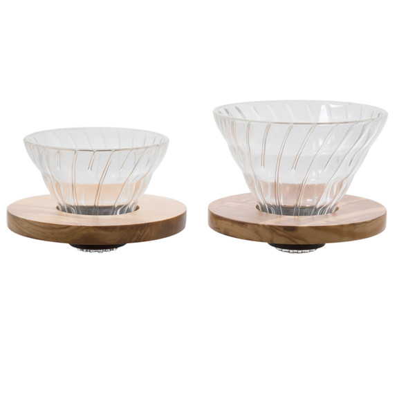 Hario V60 Olivewood Size 01 and 02