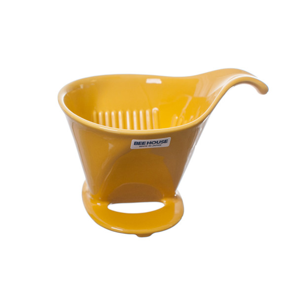 Bee House Ceramic Coffee Dripper - Large Yellow Pepper