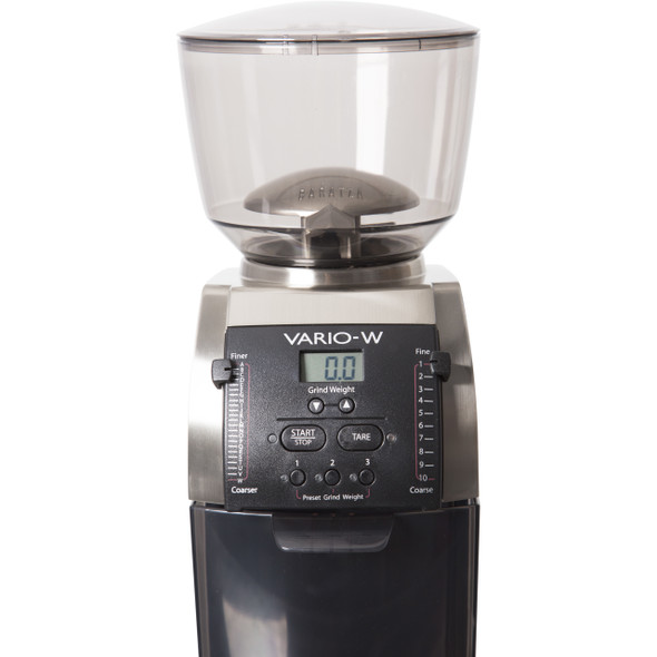 Baratza Vario-W Coffee Grinder Front View Control Panel