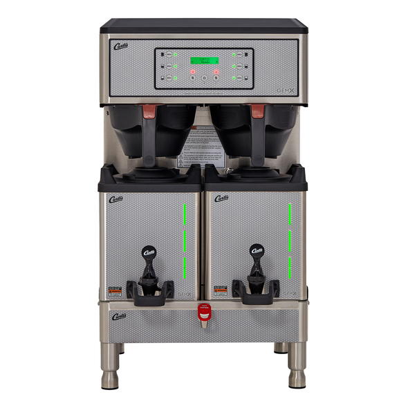 Curtis G3 GemX Gemini IntelliFresh Twin 1.5 Gallon Coffee Brewer with FreshTrac Satellites