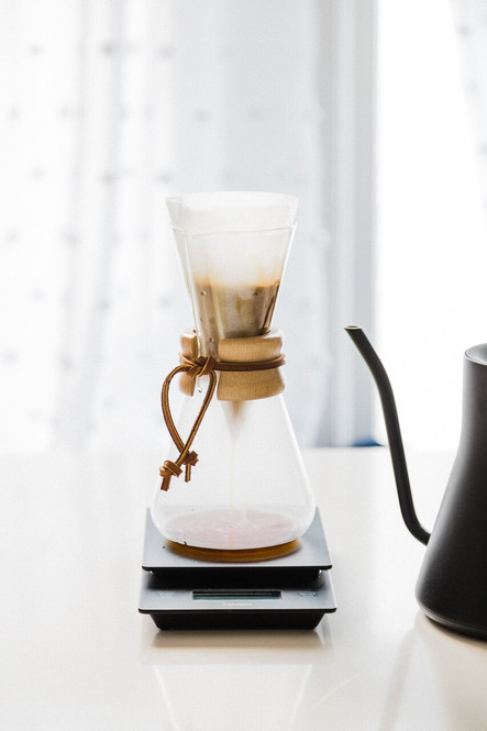 3 cup chemex brewer on site