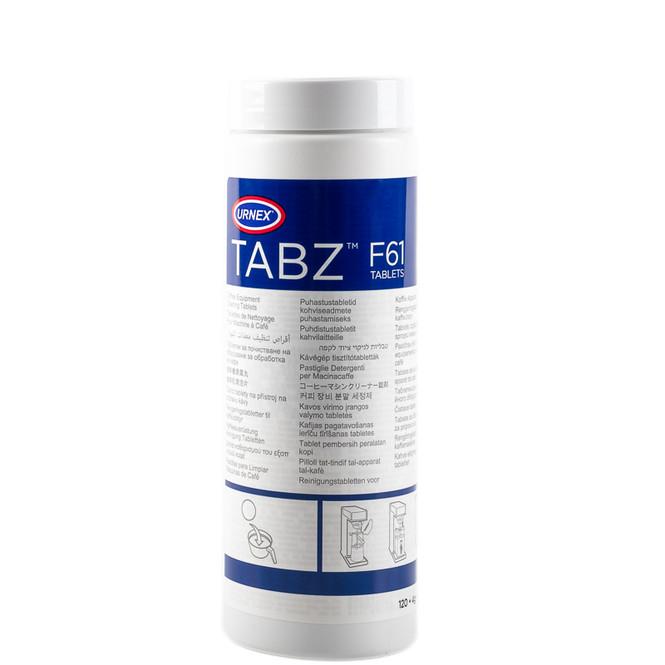 Urnex F61 tabz against white background
