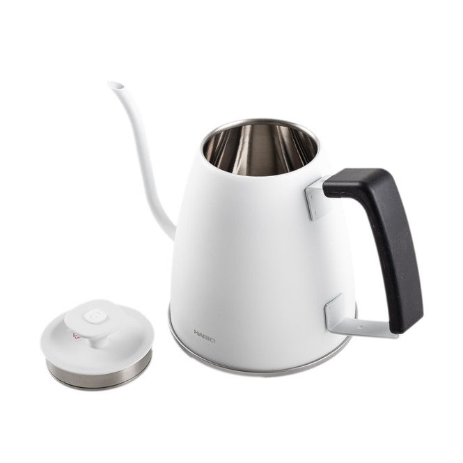 Hario Smart G kettle white model with lid off