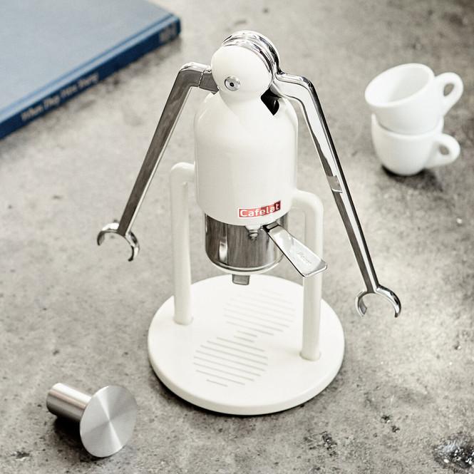Cafelat Robot Manual Lever Espresso Maker - Cream White