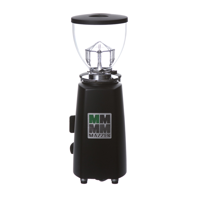 Black Mazzer Mini Espresso Grinder Back