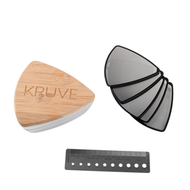 Kruve Sifter Base, 5 Sieves, and Brewler