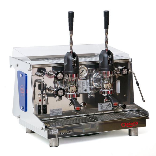 Astoria Rapallo AL lever espresso machine 2 group front angle