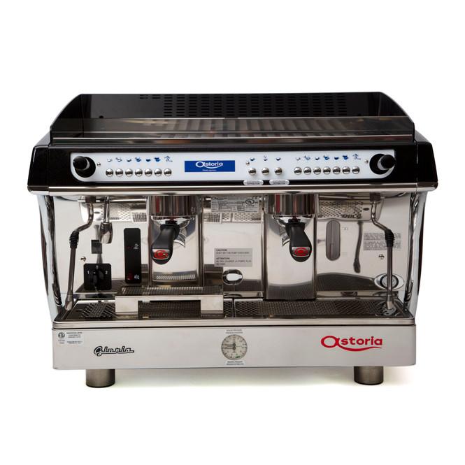 Astoria Gloria SAE 2 group automatic espresso machine front view.