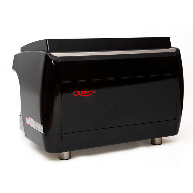 Astoria Gloria SAE 2 group automatic espresso machine back-angled view.