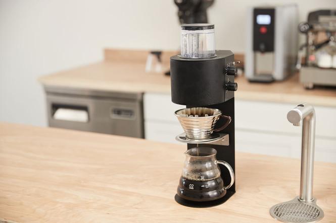 Marco SP9 Coffee Brewer Single Head Brewing a Kalita Wave