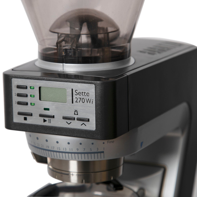Baratza Sette 270Wi Weight-based Conical Burr Coffee and Espresso Grinder Side View