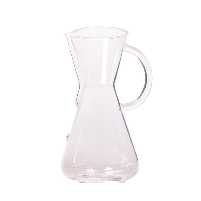 3 cup chemex brewer with glass handle