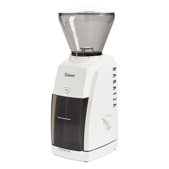 Baratza Encore Conical Burr Coffee Grinder White Side