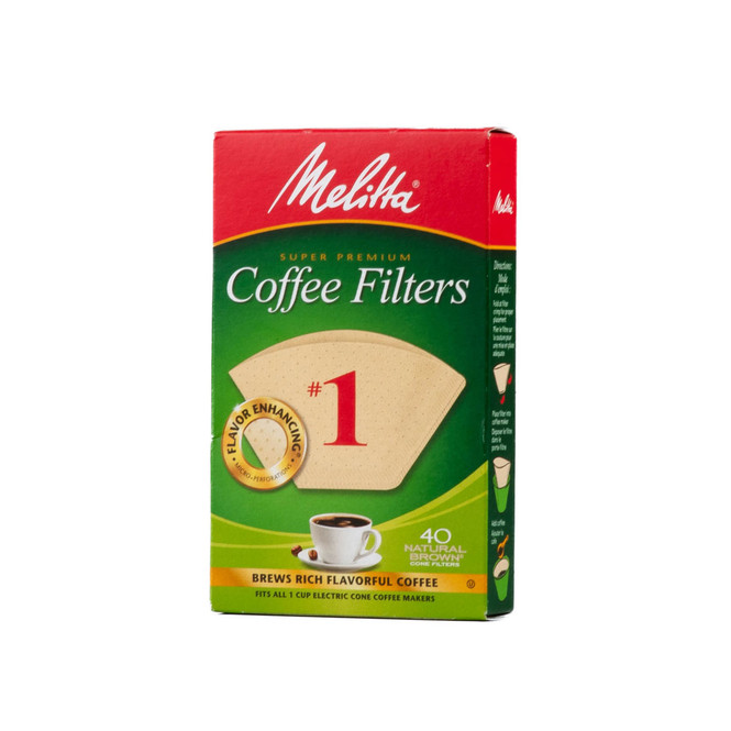 Melitta Coffee Filters Size 1 in natural brown
