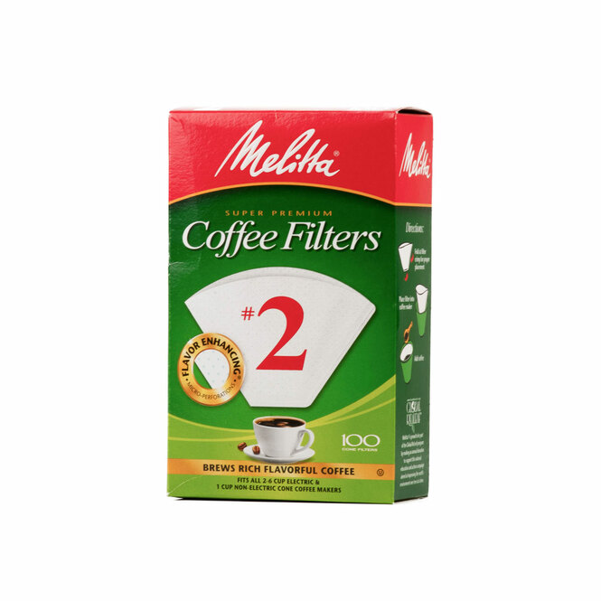Melitta Coffee Filters size 2 in white