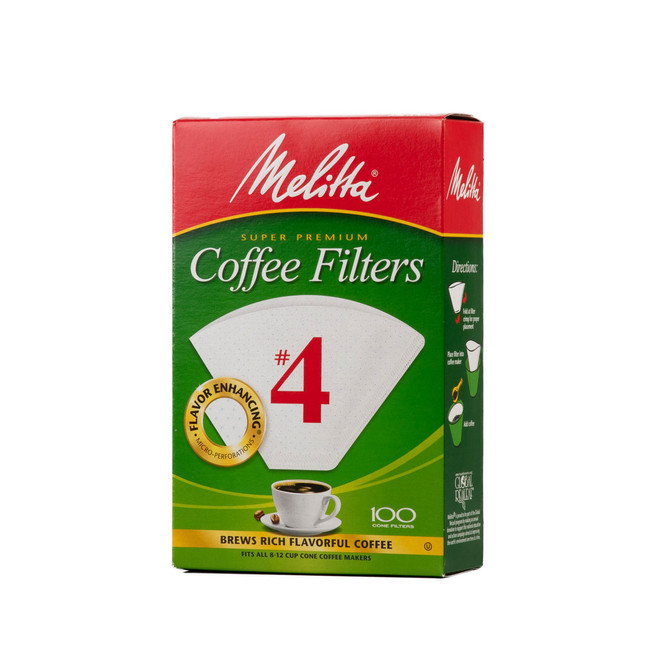 Melitta Coffee Filters size 4 in white