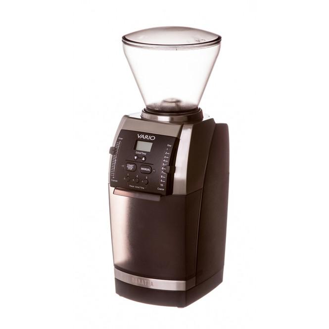 Baratza Vario 886 Flat Burr Coffee Grinder Side View and Hopper