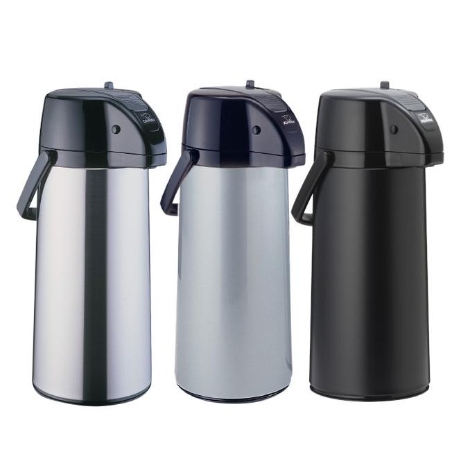 Zojirushi Premier Brushed Stainless Steel Air Pot Beverage Dispenser, 2.2 liter- AASB-22SB