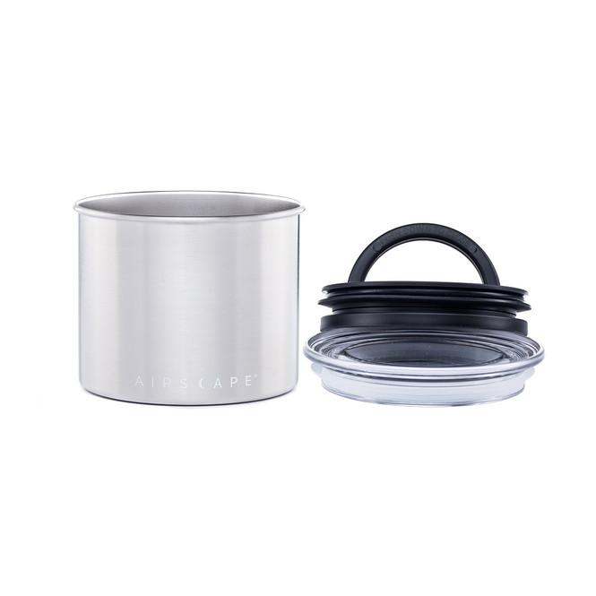32 fl oz. AirScape Coffee Storage Container Silver Open