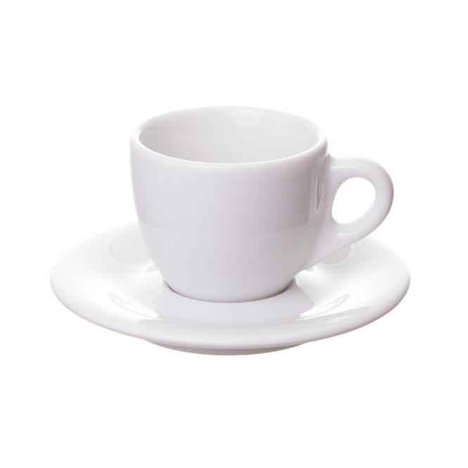 italian demitasse cup on porcelain saucer