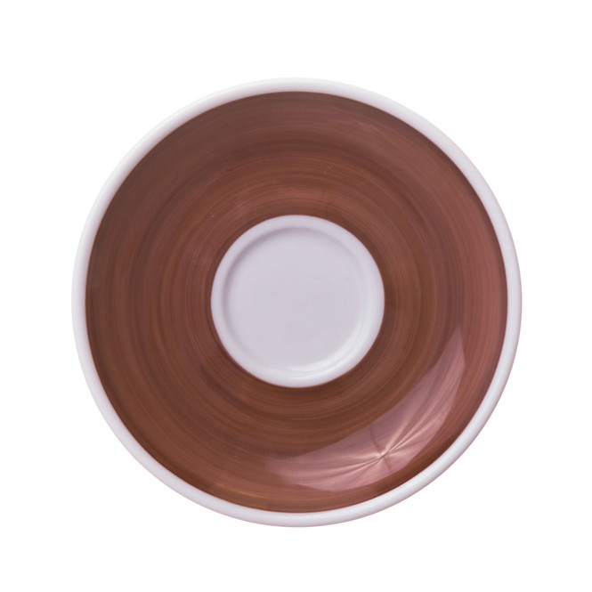 brown hand-painted saucer