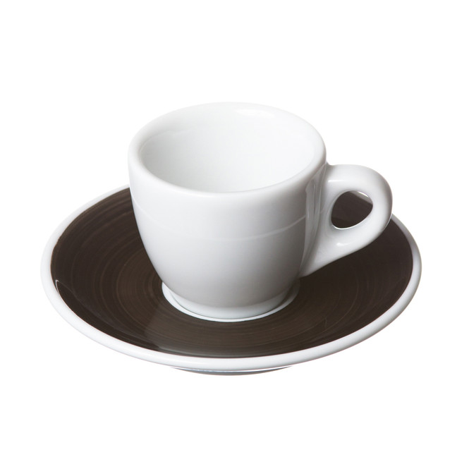 italian espresso cup and saucer black