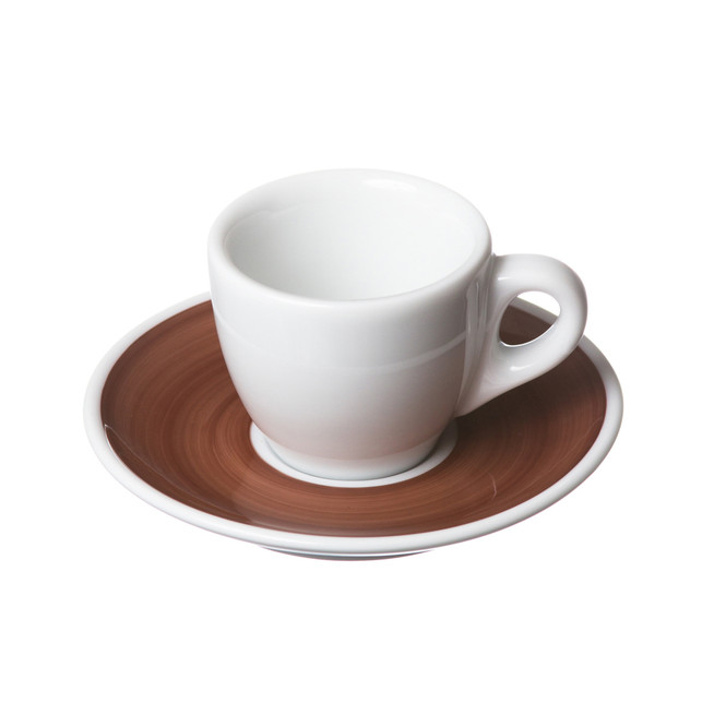 italian porcelain espresso cup and saucer brown