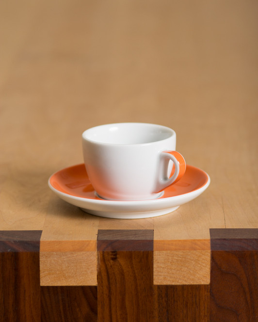 5 ounce cappuccino cup in orange