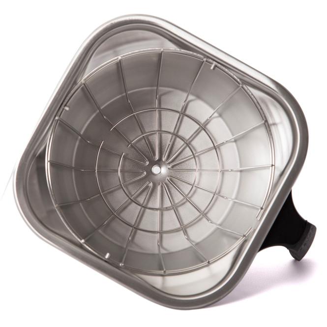 Fetco 16x6 Stainless Steel Brew Basket on side