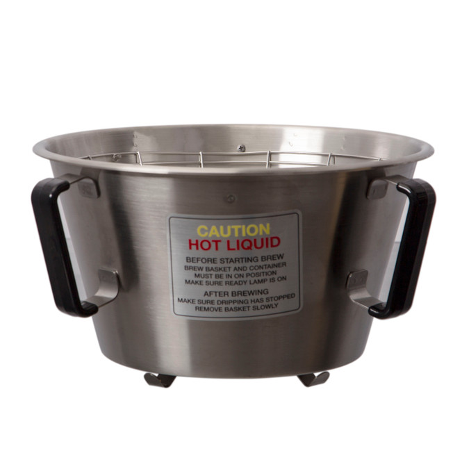Fetco B00828002 21 in. x 7 in. Stainless Steel Brew Basket with Clips