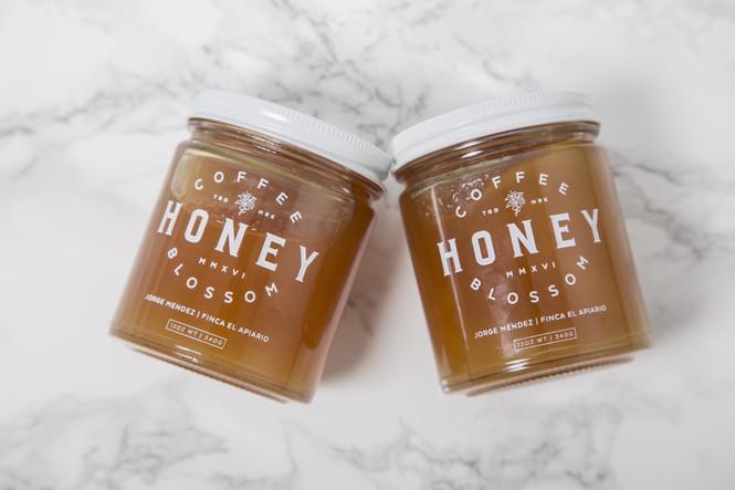 Coffee Blossom Honey Jar Pair