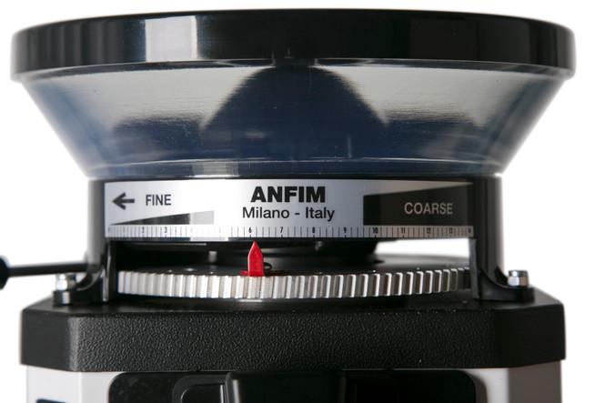 Anfim CODY II Espresso Grinder Hopper and Adjustment
