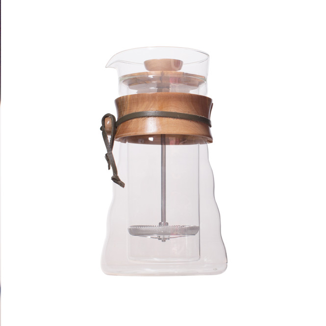 Hario double walled french press olive wood