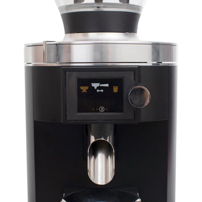 Mahlkönig E65 espresso grinder display and chute