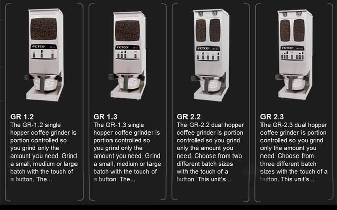 Line of grinders