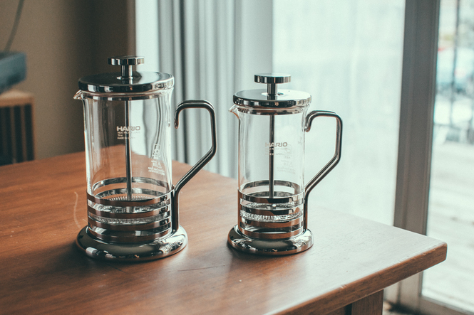 Hario Glass French Press Metal Line