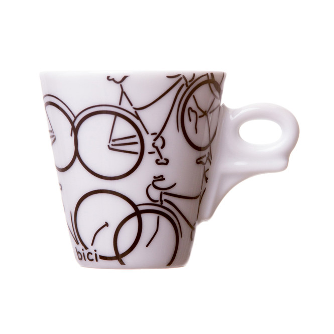 bicycle espresso cup and saucer