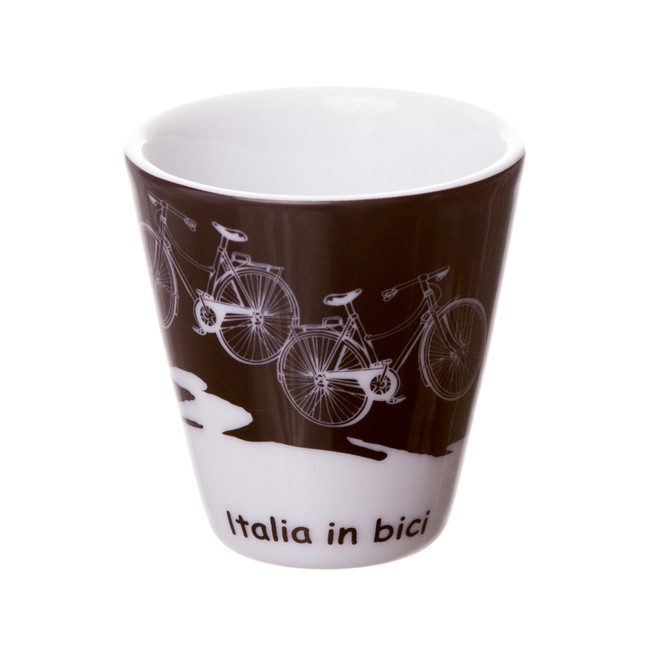 espresso cup with bikes on it