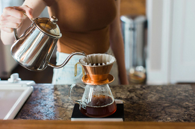 Kalita Pour Over Kettle, Kalita Dripper, and Kalita Glass Coffee Server