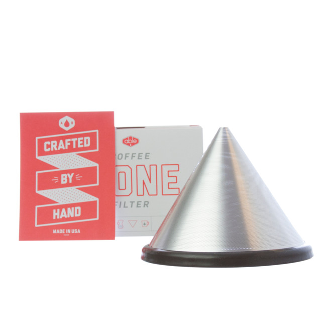 Able Brewing's Kone, a stainless steel fitler for Chemexes