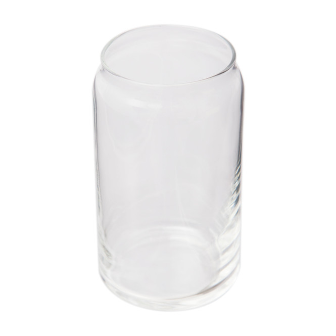 Angled view of Libbey 16 oz Can-shaped Drinking Glasses