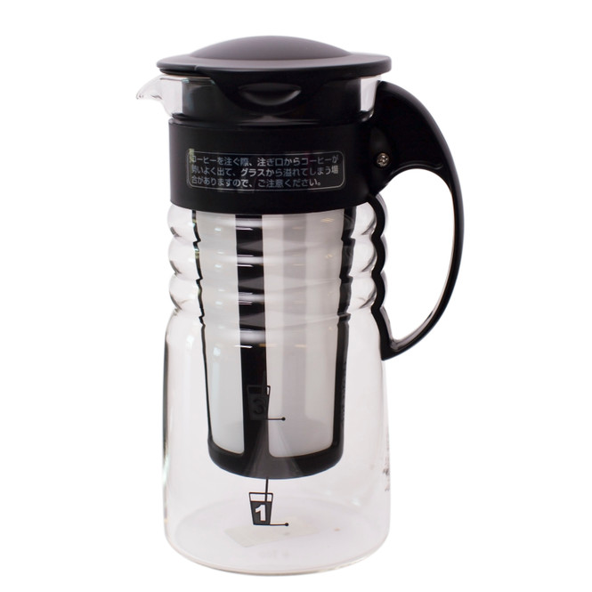 small black hario mizudashi cold brew coffee pot