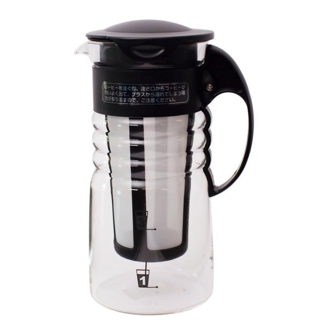small black hario mizudashi cold brew coffee pot