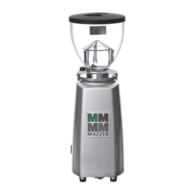 back of the mazzer mini doserless espresso grinder
