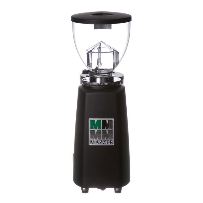 Mazzer Mini E in black, back view of grinder