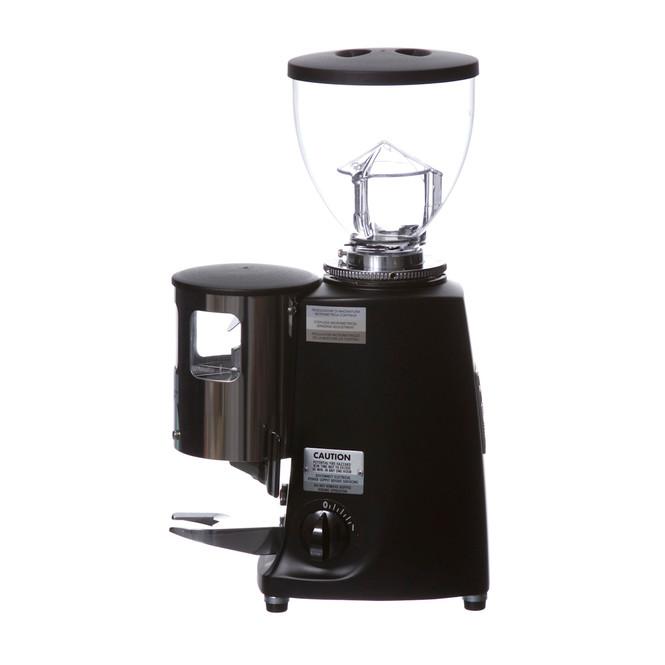 Black Mazzer Mini Espresso Grinder Left