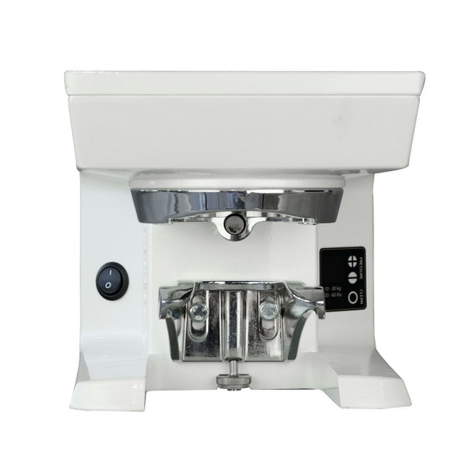 Puqpress M2 Automatic Tamper for Mythos 1 & 2 Grinders, in white